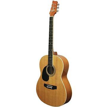 "Kona 39"" Left Hand Lefty Parlor Size Acoustic Guitar W Bag & Picks"
