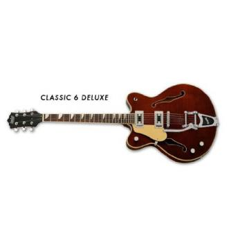 Eastwood Classic 6 DLX Guitar - Left Handed Walnut