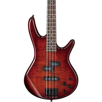 Ibanez GSR200SM 4-String Electric Bass Guitar, GSR4 Maple Neck, Rosewood Fretboard, Charcoal Brown Burst