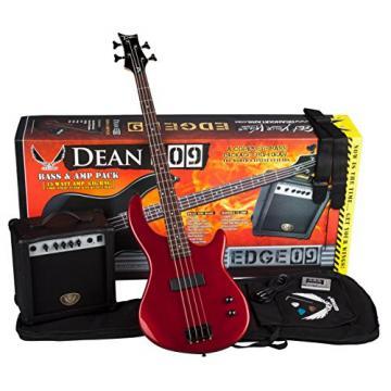 Dean Starter Bass Pack with Edge 09 Bass, Metallic Red