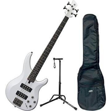 Yamaha TRBX304 WH TRBX-304 White 4 String Bass Guitar w/ Gig Bag and Stand