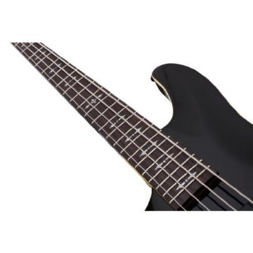 Schecter OMEN-4 Left Handed 4-String Bass Guitar, Black