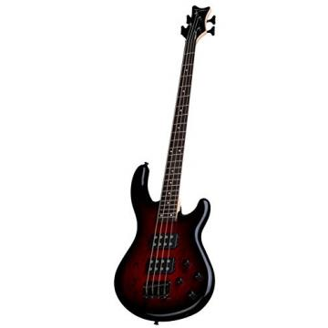 Dean E2 SM TRD Edge 2 Spalt Maple Bass Guitar, Trans Red