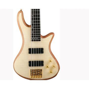 Schecter Stiletto Custom-5 Electric Bass (5 String, Natural Satin)