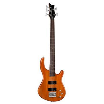 Dean Edge 1 5-String Bass, Trans Amber