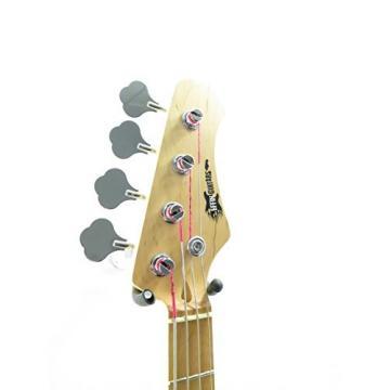 Effin Guitars model EBI/BK Ball Look Black Ernie Style Bass Guitar