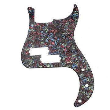 WINOMO 3-Ply Bass PB Guitar Loaded Prewired Pickguard Multicolor