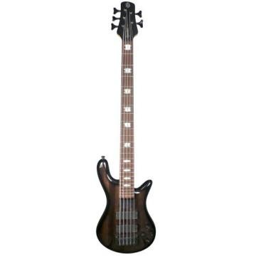 Spector Basses Euro Series RB5DLXZBKS 5-Strings Bass Guitar, Zebra Gloss Natural