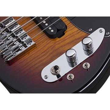 Schecter 2494 5-String Bass Guitar, 3-Tone Sunburst