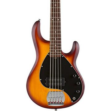 Sterling by Music Man RAY5 5-String Electric Bass Guitar Satin Honey Burst