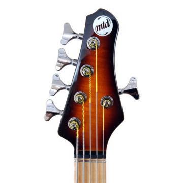 """MTD Kingston """"The Heir"""" Bass Guitar (5 String, Maple, Tobacco Sunburst)"""