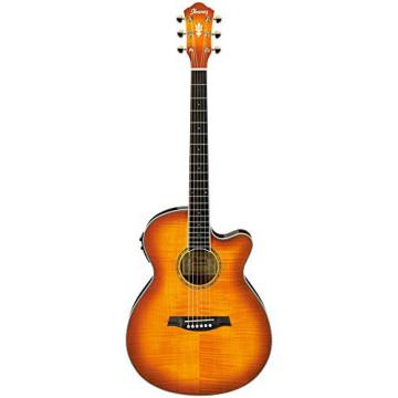 Ibanez AEG20II Flamed Sycamore Top Cutaway Acoustic-Electric Guitar Vintage Violin