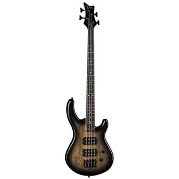 Dean E2 SM CHB Edge 2 Spalt Maple Bass Guitar, Charcoal Burst