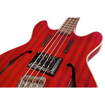 Guild Starfire Bass CHR-KIT-2 Semi-Hollow Electric Bass Guitar, Cherry Red