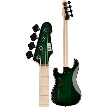 ESP LMM4FMDSTGSB Bass Guitar, Dark See Thru Green Sunburst