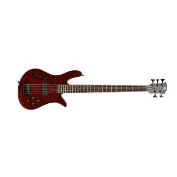 Spector SCORE5WALFL core 5 Walnut Stain Gloss Bass Guitar, Lined Fretless