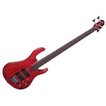 Hamer Xt Series Velocity 5 String Electric Guitar - Transparent Red
