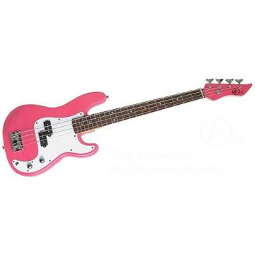 It's All About the Bass Pack-Pink Kay Electric Bass Guitar Medium Scale w/Snark SN8 Tuner