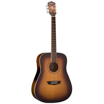 Washburn WD7S Harvest Series Grand Auditorium Acoustic-Electric Guitar - Tobacco Sunburst