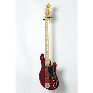 Squier Deluxe Dimension Bass IV Maple Fingerboard Electric Bass Guitar Level 2 Transparent Crimson Red 190839096135