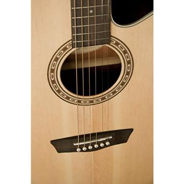 Washburn Harvest Series WG7SCE Acoustic-Electric Guitar, Natural Gloss