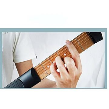 iWooplus Protable Wooden Pocket Guitar Practice Tool Gadget Guitar Chord Trainer 6 Fret
