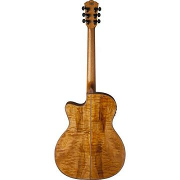 Washburn WCG66SCE Comfort Deluxe Series Acoustic-Electric Guitar, Natural Finish