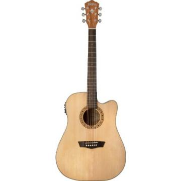 Washburn WD7SCE Harvest Series Solid Sitka Spruce/Mahogany Dreadnought Cutaway Acoustic-Electric Guitar - Natural Gloss