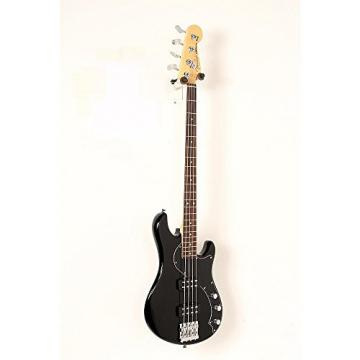 Fender American Standard HH Dimension Bass IV Rosewood Fingerboard Electric Bass Guitar Level 2 Black 190839071064