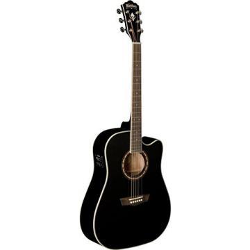 Washburn Mahogany Series WD10SCEB Dreadnought Acoustic Electric Guitar, Natural
