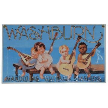 Washburn Guitars Porcelain Sign