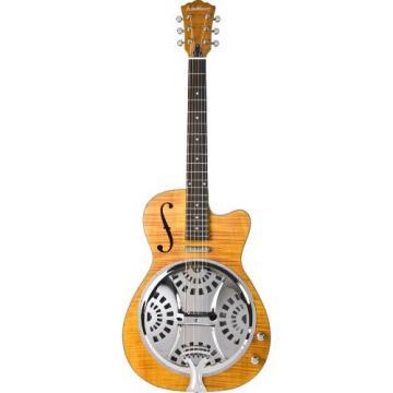 Washburn Resonators R45RCE Resonator Electric Guitar, Natural