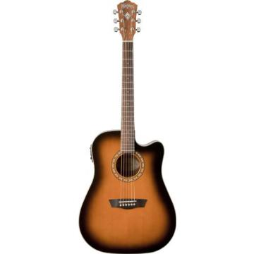 Washburn WD7SCEATB Harvest Series Cutaway Dreadnought Acoustic-Electric Guitar - Sunburst
