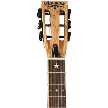 Washburn R360SMK Parlor Resonator Guitar with 1930's Style Inlay Satin Natural