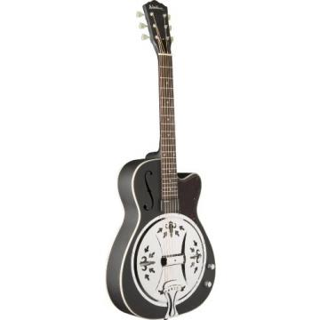 Washburn USM-R60BCE Resonator Guitar, Matte Black