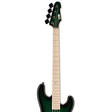 ESP LMM4FMDSTGSB-KIT-2 Marco Mendoza Signature Series 4-String Electric Bass, Dark See Thru Green Sunburst