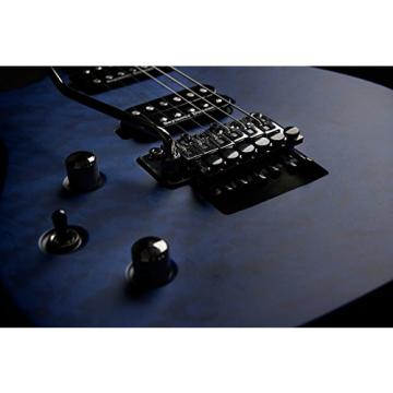 Washburn Parallaxe PXM Series Lefty Electric Guitar - Quilt Trans Blue