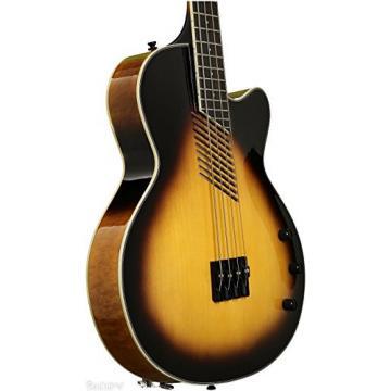 Washburn Vintage Sunburst Acoustic/Electric Bass Guitar