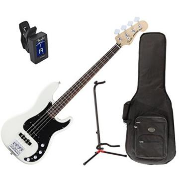 Fender Deluxe Active P Bass Special - Olympic White, Rosewood Fingerboard w/ Deluxe Gig Bag, Stand, and Tuner