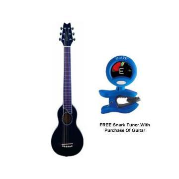 Washburn Rover Steel String Travel Acoustic Guitar (Black)*FREE SNARK TUNER*