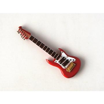 Red Washburn Electric Guitar Miniature 1/12th Scale Musical Instrument In Black Vinyl Case With Metal Clasp