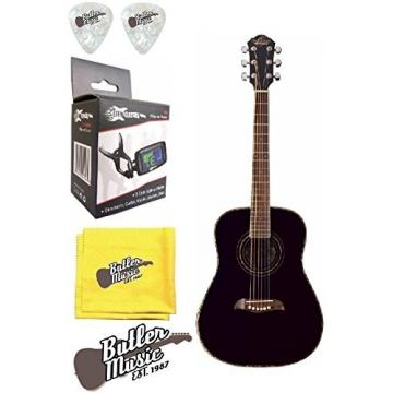 Oscar Schmidt OG1B 3/4 Size Dreadnought Acoustic Guitar w/Effin Tuner and More