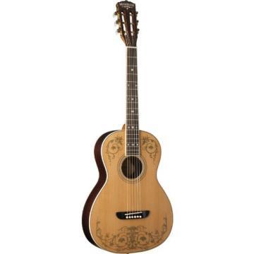 Washburn WP5234S Parlor Series Acoustic Guitar, Natural Satin Finish