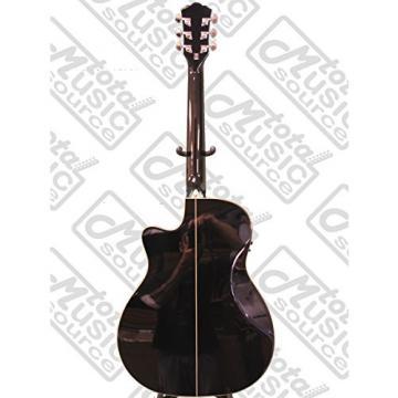 New Washburn Wcg18ceb Black Grand Auditorium Acoustic Electric Guitar