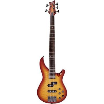 Mitchell MB305 5-String Modern Rock Bass with Active EQ Honey Burst