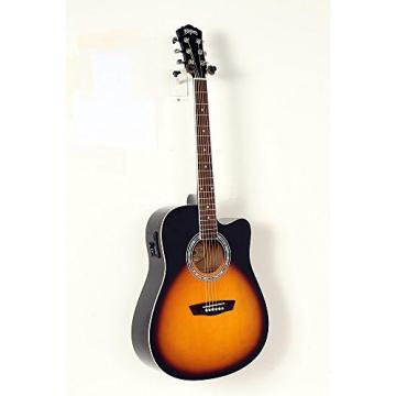 Washburn WA90CE Dreadnought Acoustic Electric Guitar Level 2 Vintage Tobacco Sunburst 190839011060
