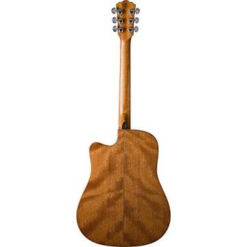 Washburn Solid Wood Series WD160SWCE Dreadnought Acoustic Electric Guitar, Natural