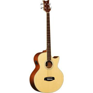 Ortega Guitars D1-4 Deep Series One 4-String Acoustic Bass with Solid Spruce Top and Mahogany Body, Gloss