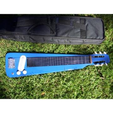 Lap Steel guitar with case, Blue