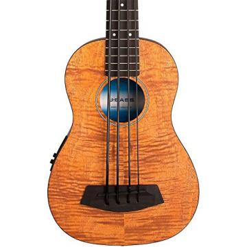 Kala UBASS EM FSRW Acoustic Electric Bass Exotic Mahogany with Round Wound Strings w/ Stand and Tuner